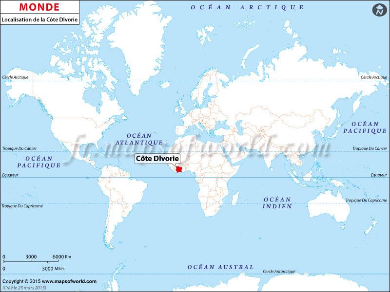Où est la Côte d'Ivoire