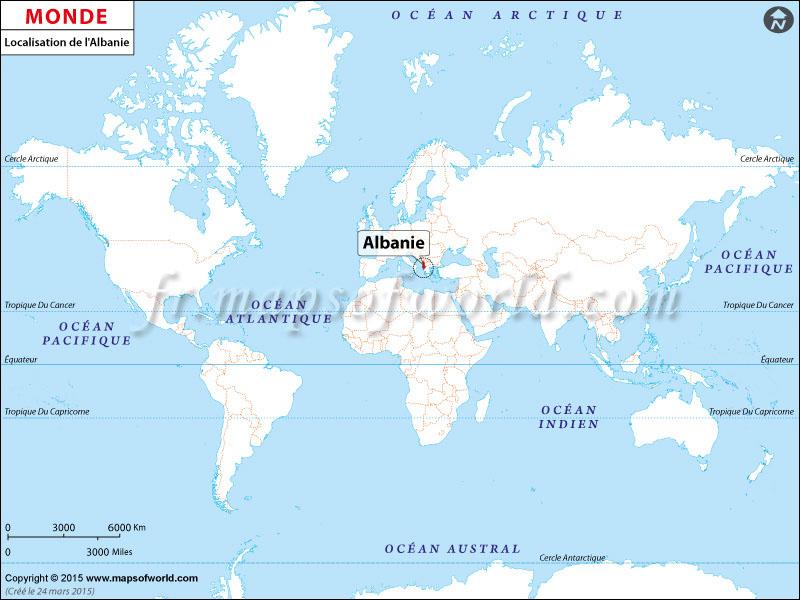 Où est l'Albanie