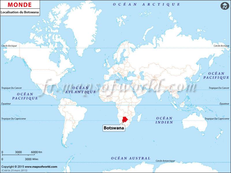Où est le Botswana