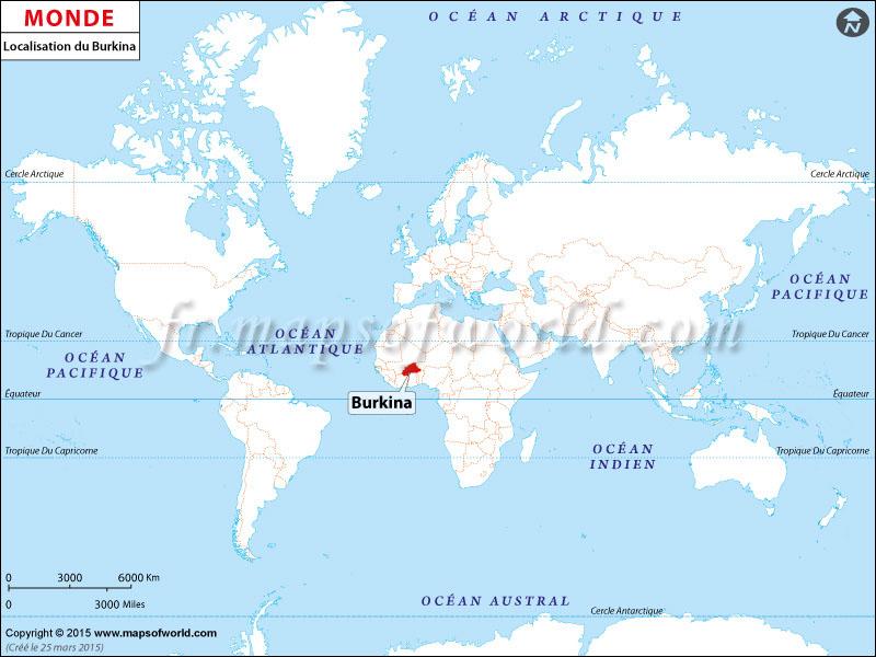 Exceptionnel Où est Burkina Faso | Localisation du Burkina Faso sur la carte  KY75