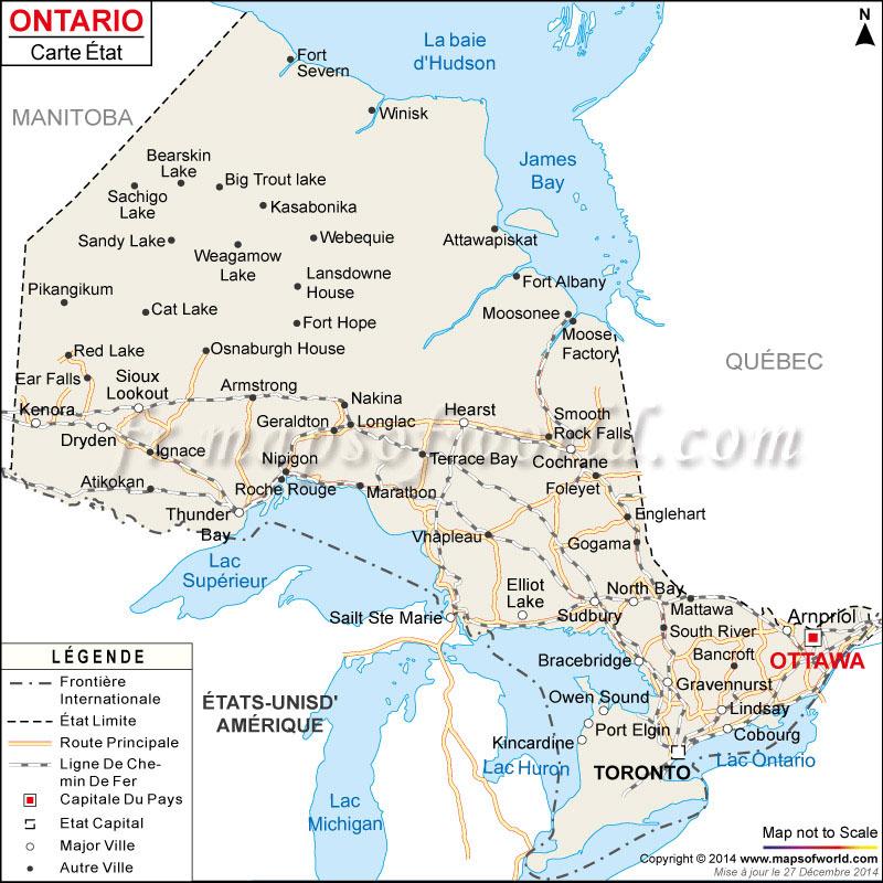 Carte de l'Ontario