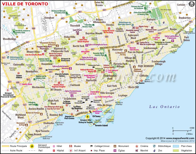 Carte Assurance Maladie Toronto.Tourisme A Toronto Une Selection De Sites Touristiques
