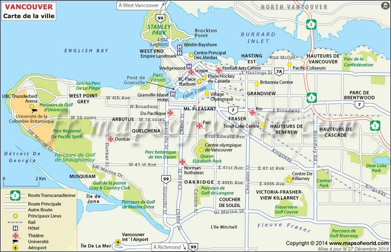 Carte de Vancouver