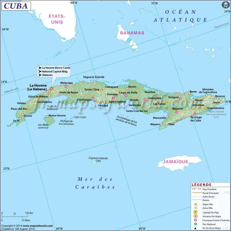 Carte Cuba Monde.Cuba Carte