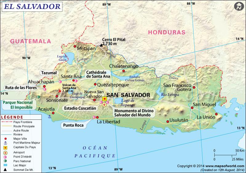 Carte El Salvador