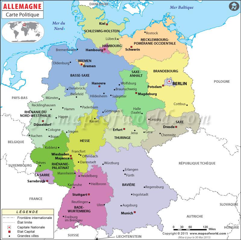Carte Du Monde Allemagne.Allemagne Carte