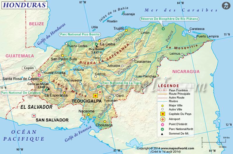 Honduras Carte