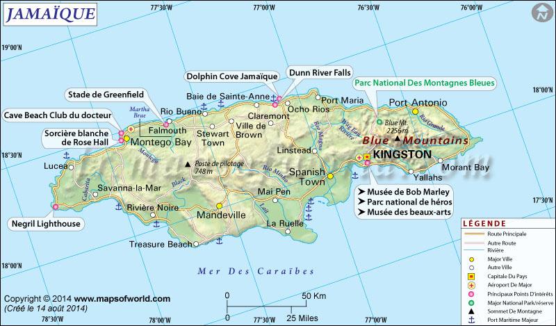 Jamaïque Carte