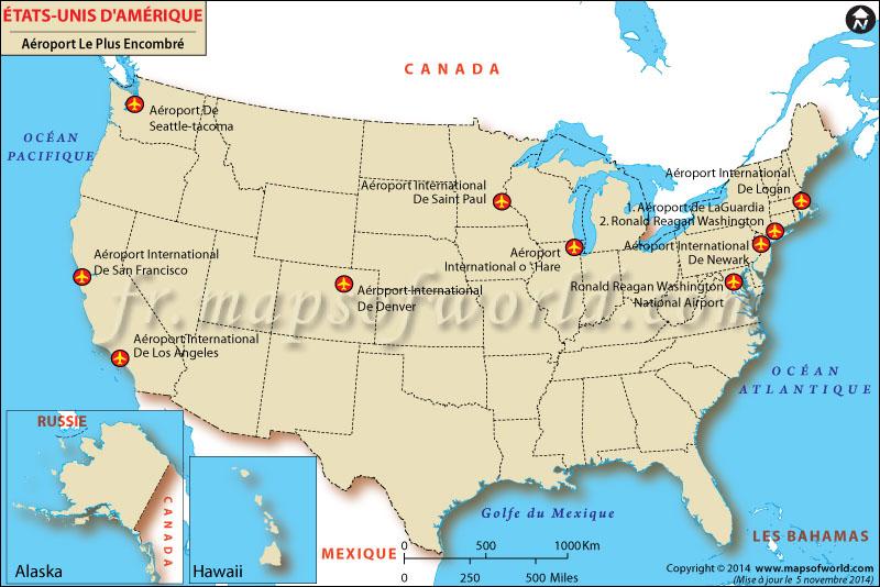 La plupart des aéroports bondés aux États-Unis au cours de Noël - Top 10