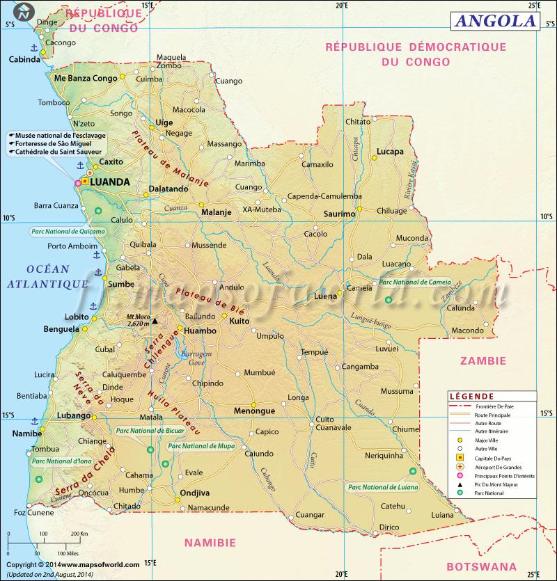 carte de l angola - Image