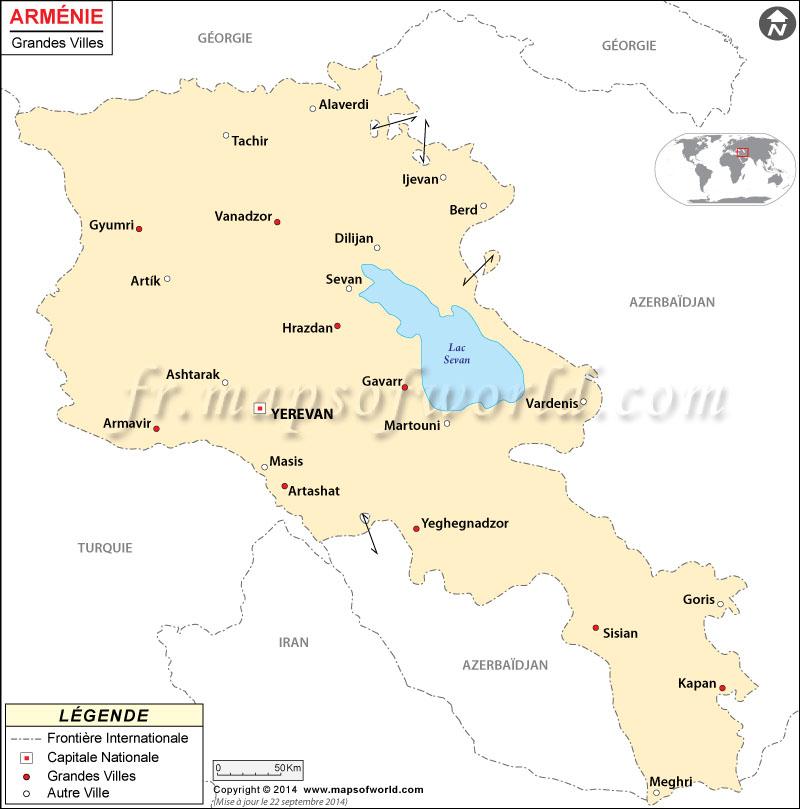 Les villes en Arménie
