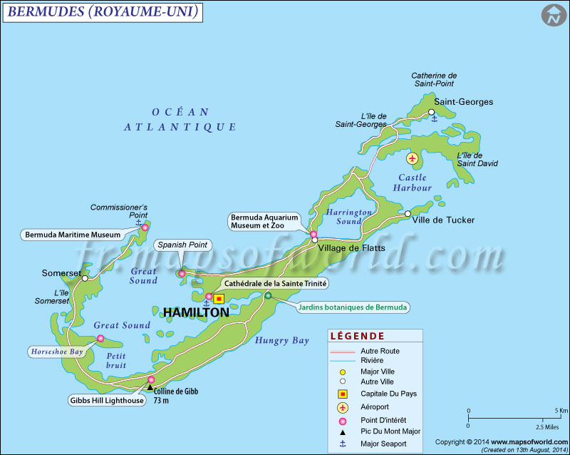 Bermudes Carte