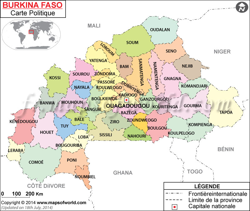 Populaire Faso Carte AM53