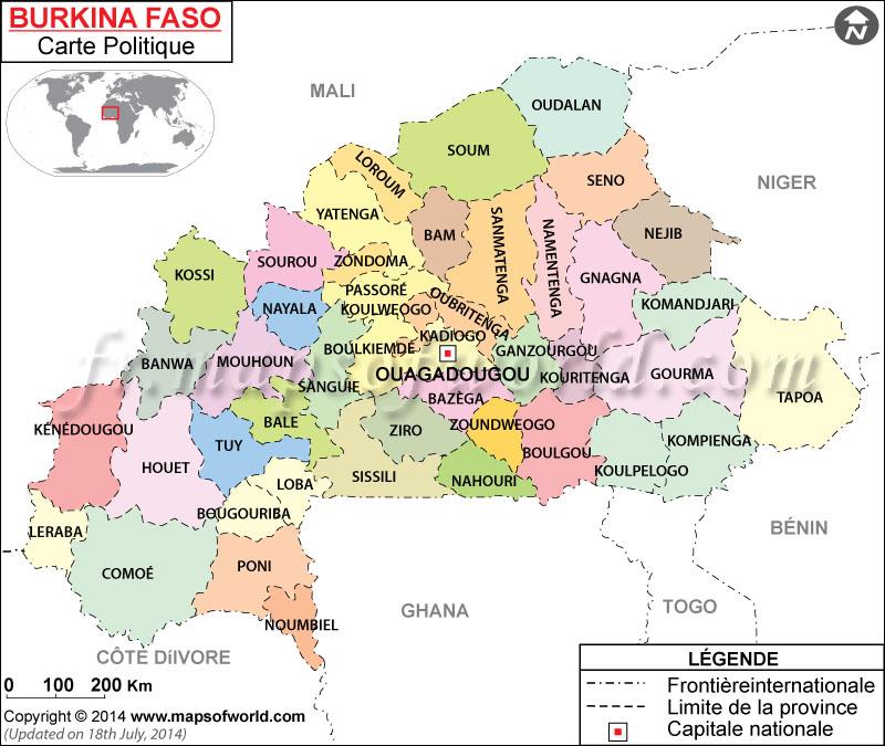 Burkina Faso Carte