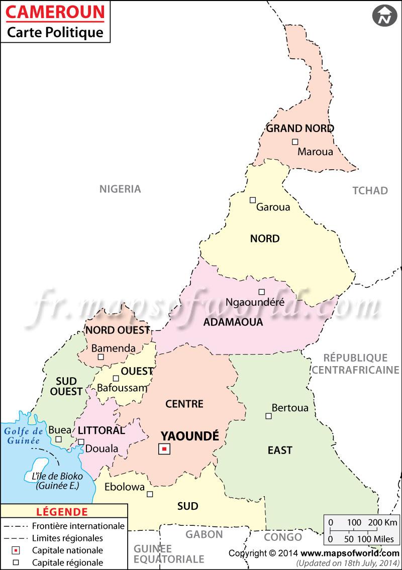 Cameroun Carte