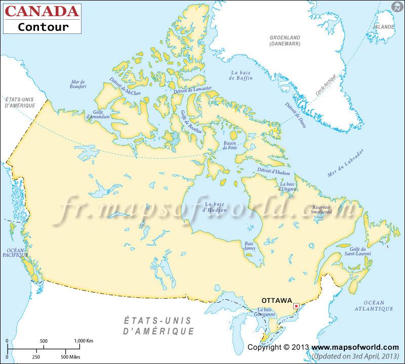 Canada Carte Vierge