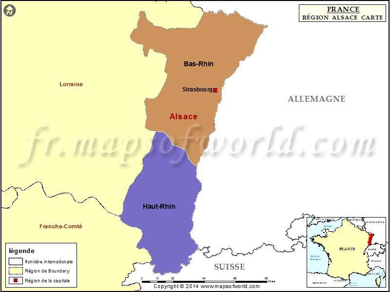 Carte de l'Alsace