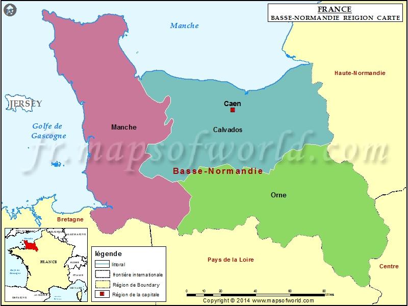 Carte de Basse-Normandie
