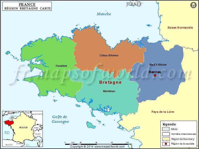 Carte de Bretagne