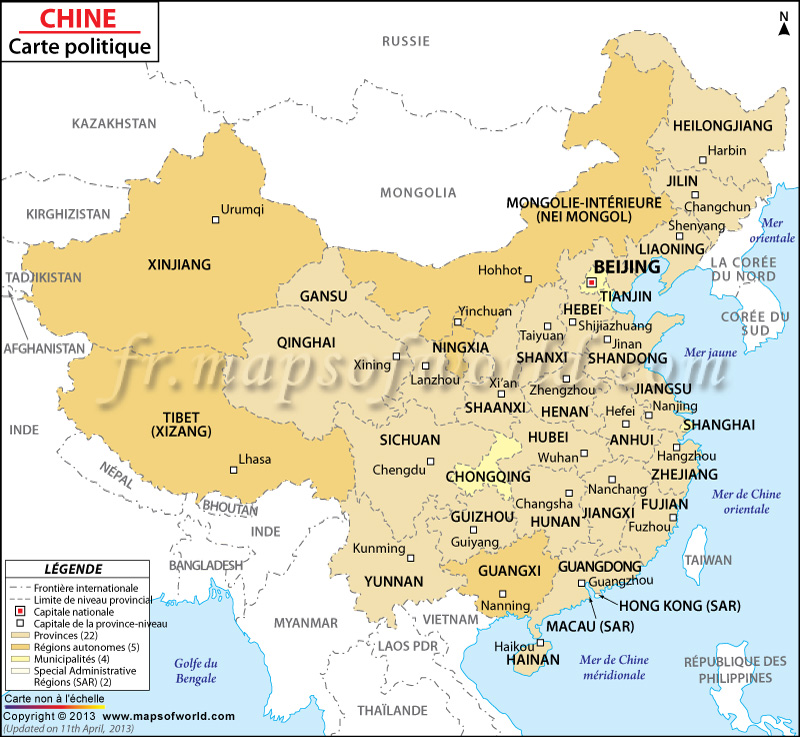 Top Carte de la Chine | Carte Chine BA62