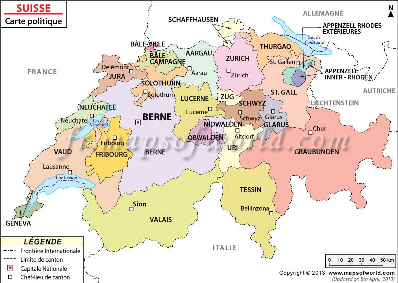 Carte de la Suisse