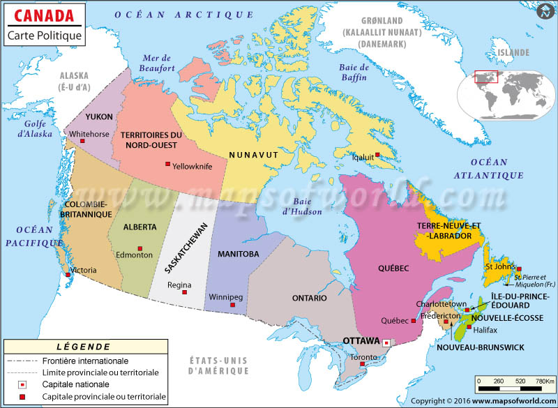 carte canada images et photos