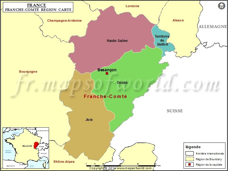 Carte de Franche-Comté