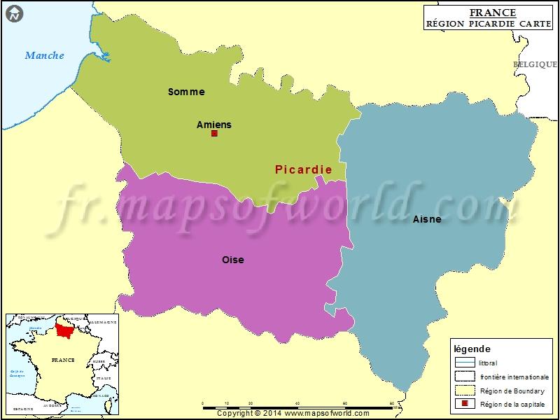 Carte de Picardie