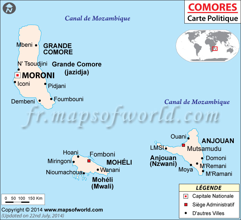 Comores Carte