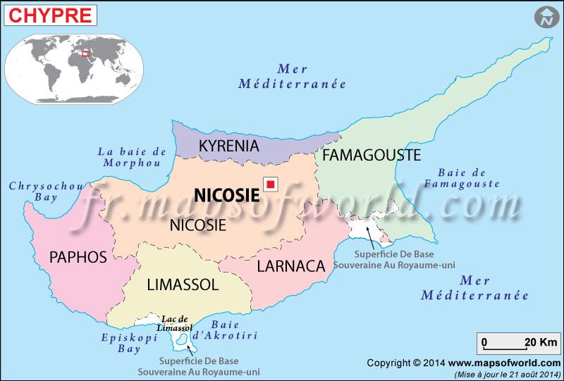 Chypre Carte