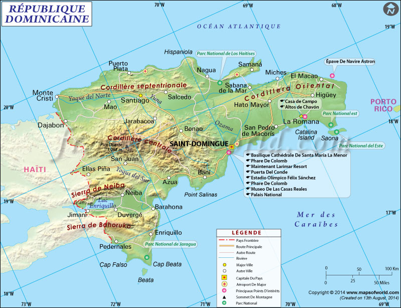 République dominicaine Carte