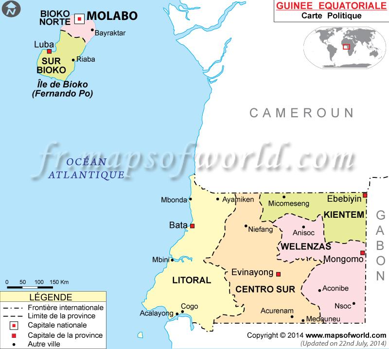 Guinée équatoriale Carte