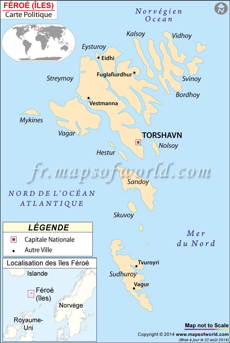 Îles Féroé carte