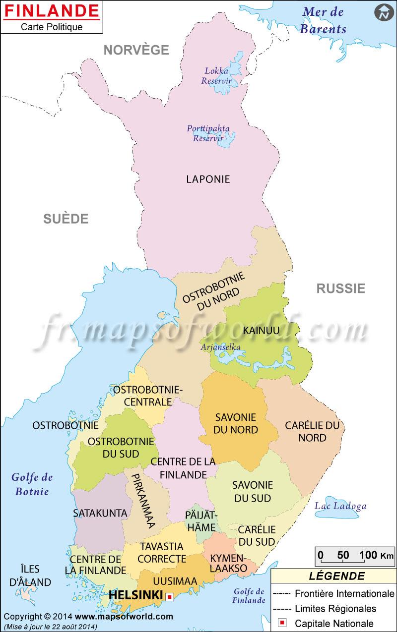 Finlande Carte