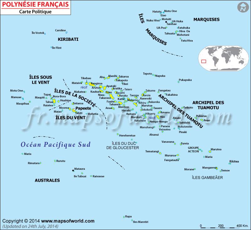polynesie francaise carte