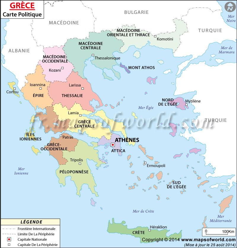 Grèce Carte