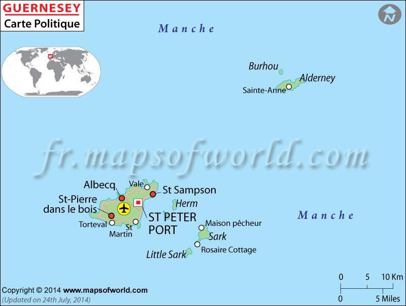 Guernesey Carte