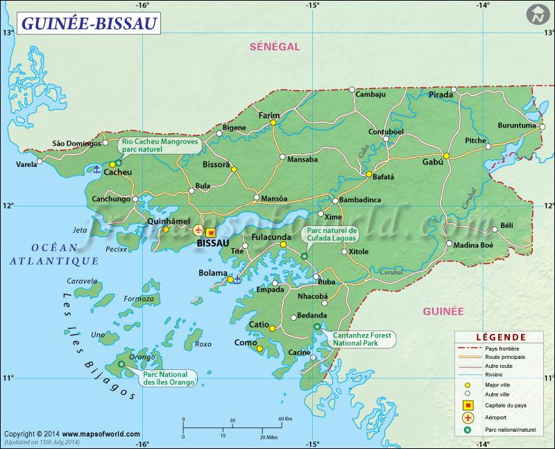 Guinée-Bissau Carte