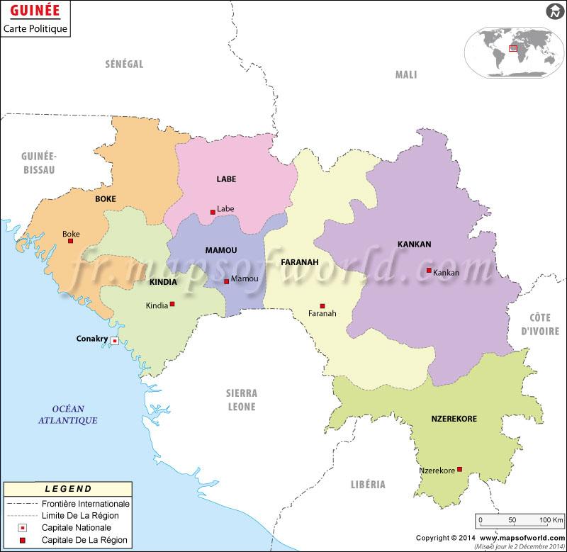 Guinée Carte