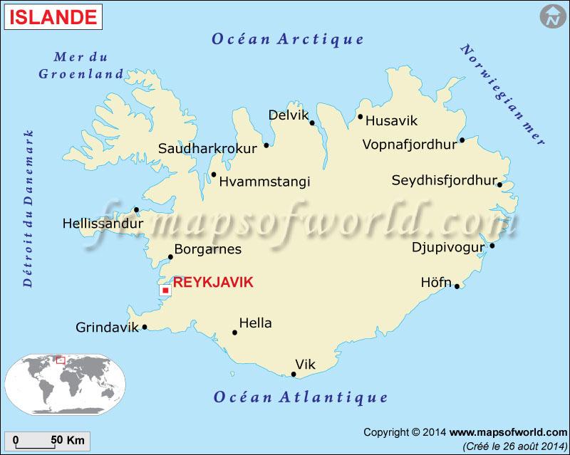 Islande Carte