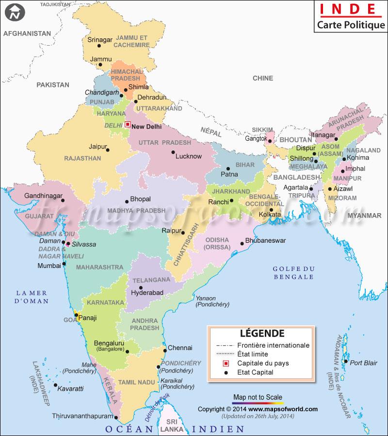 Carte De Linde Avec Le Gange.Carte Inde Inde Carte