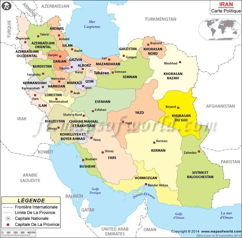 carte de l iran