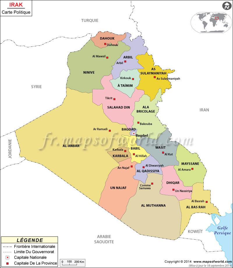 Irak Carte