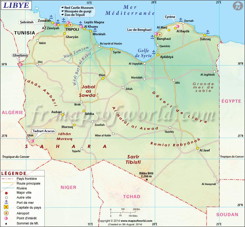 Libye Carte