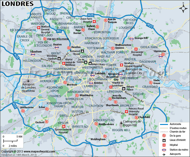 London Voir la Carte