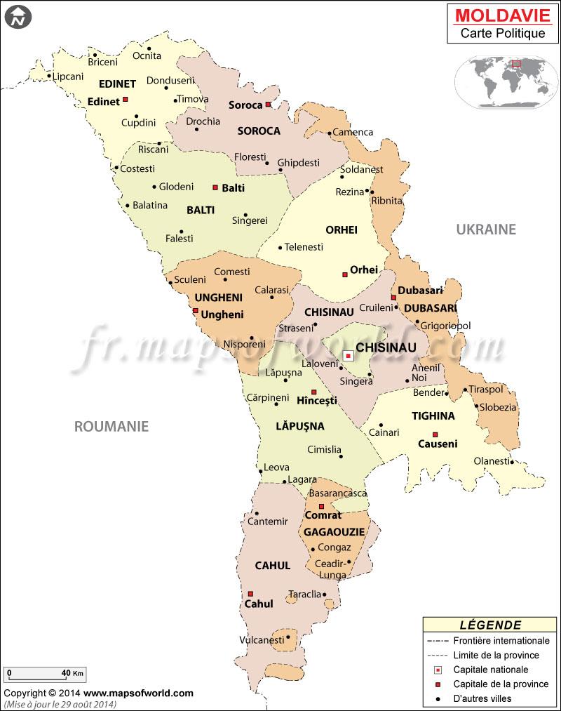 Moldavie Carte