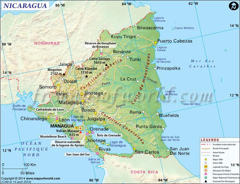 Nicaragua Carte