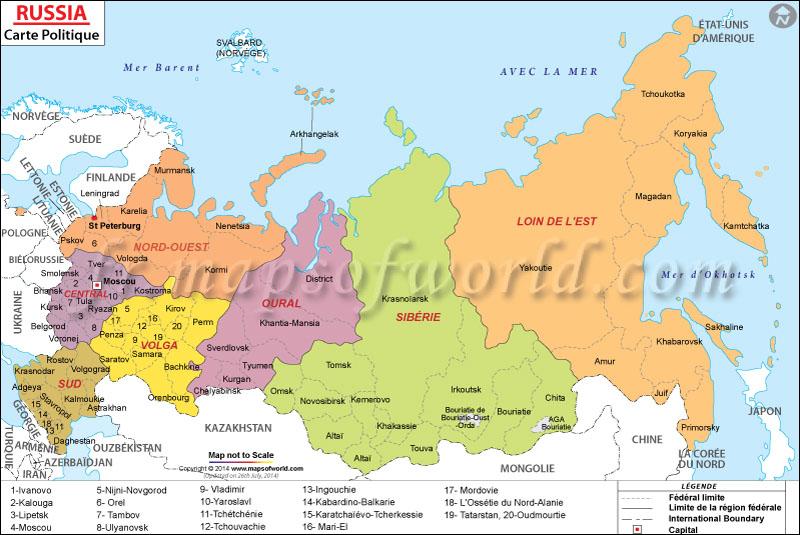 carte de la russie