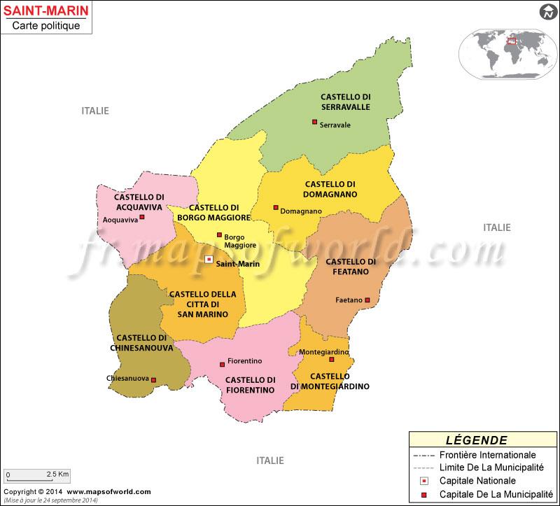 Saint-Marin Carte