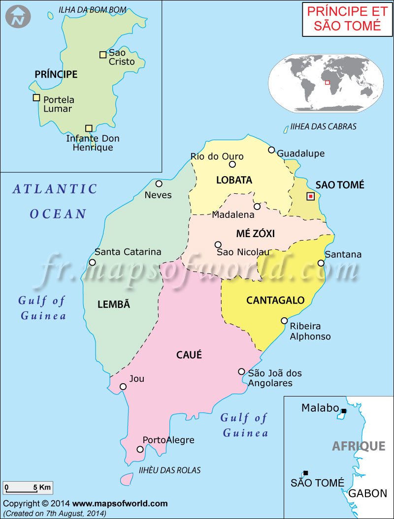 Carte de Sao Tomé et Principe